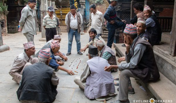 Nepalese Men Playing A Sticks And Stones Game – Nepal