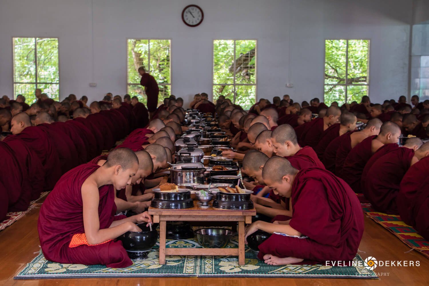 Last meal of the day for the monks - Myanmar