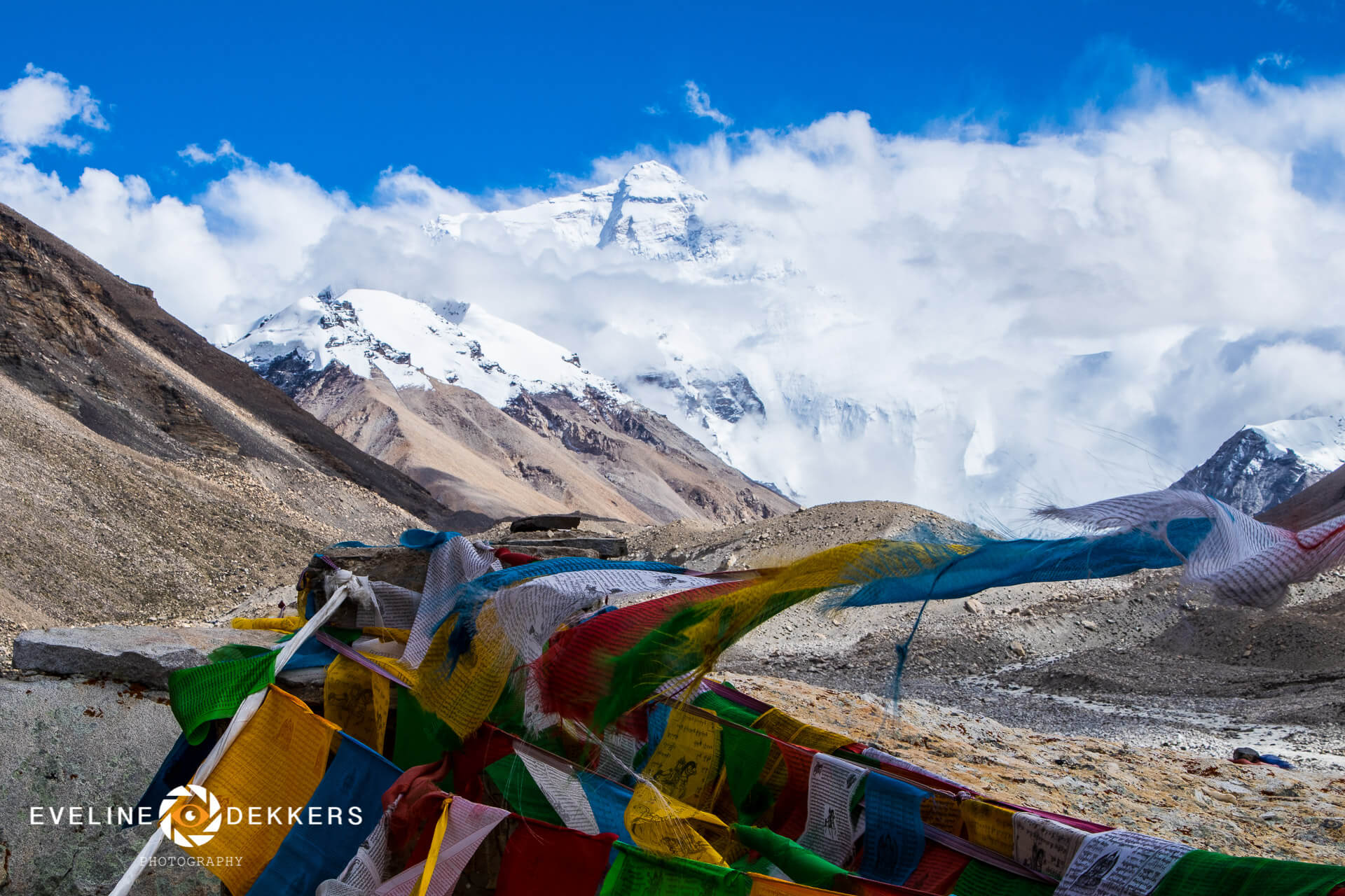 Mount Everest from Rongbuk Monastery - Tibet