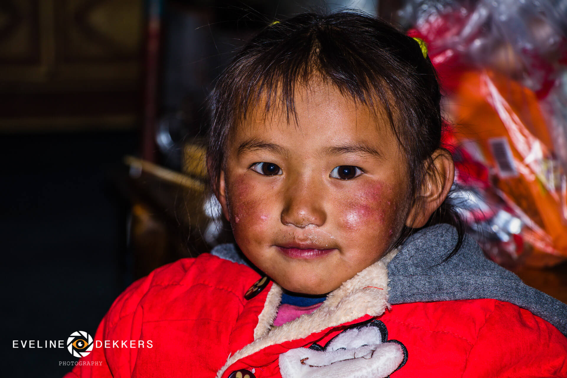 Tibetan girl at Mt. Everest base camp