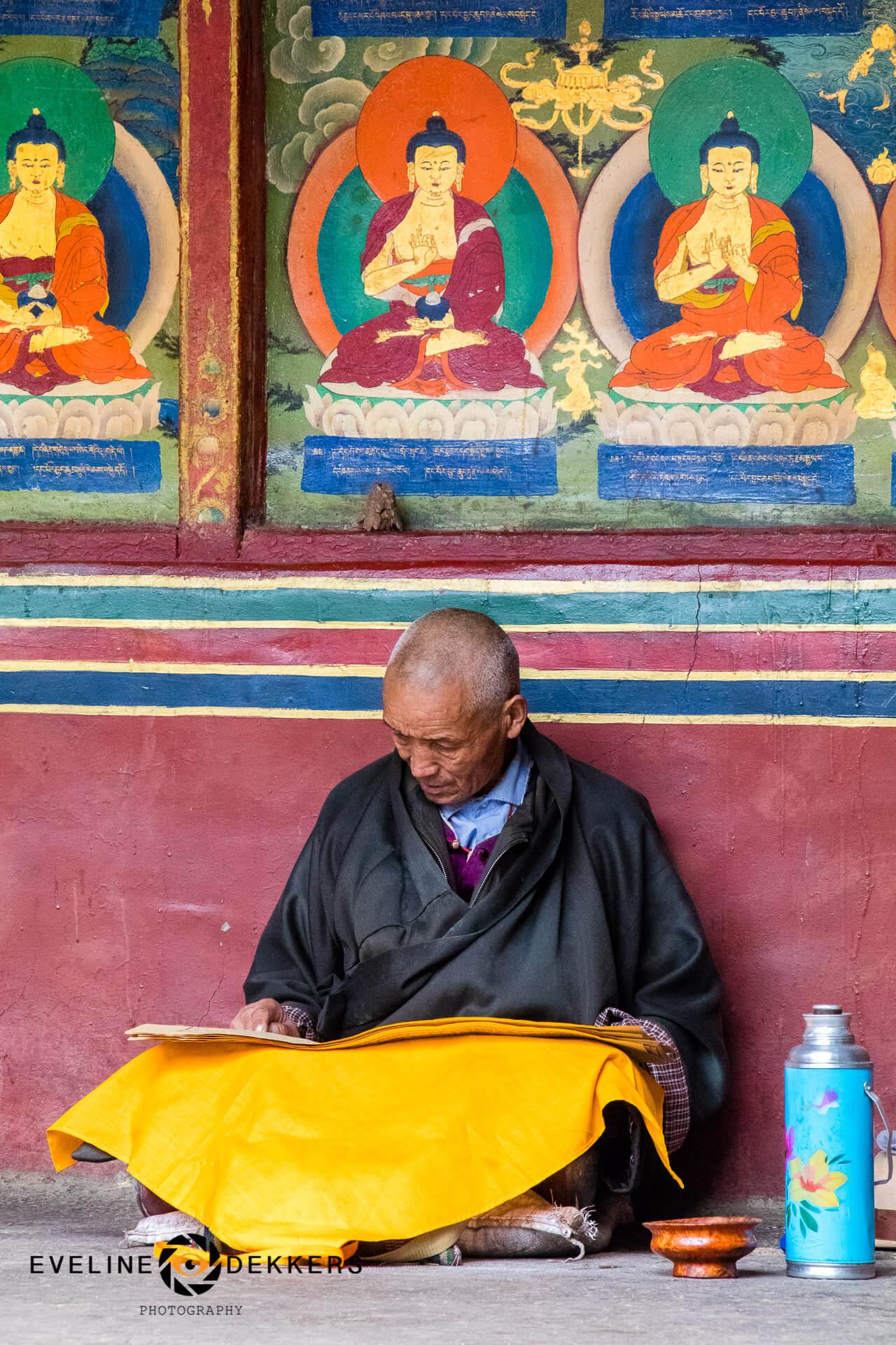 Monk at Tashi Lhunpo Monastery - Tibet